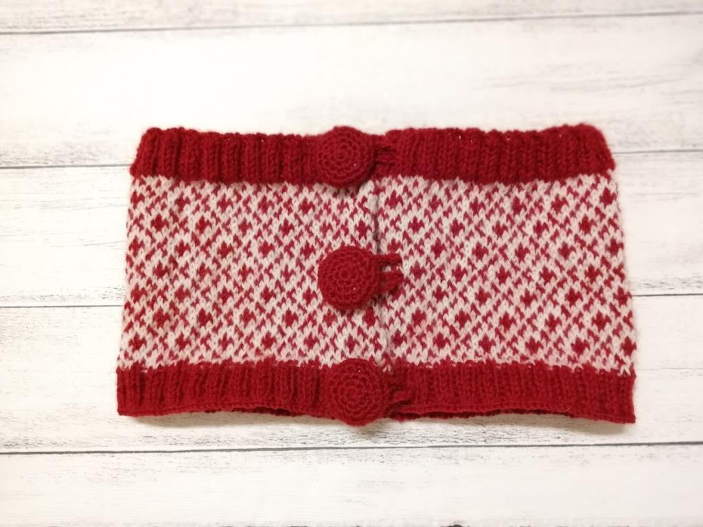 北欧柄の編み物~ワンズの腹巻~