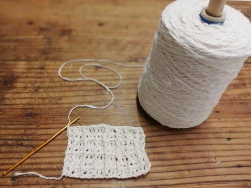 【脱プラ】オーガニックコットンのガラ紡糸で編むエコたわし
